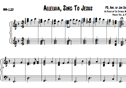 Catholic Sheet Music, Alleluia, Sing to Jesus